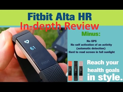 fitbit alta hr video review