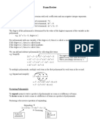 grade 11 functions exam review questions